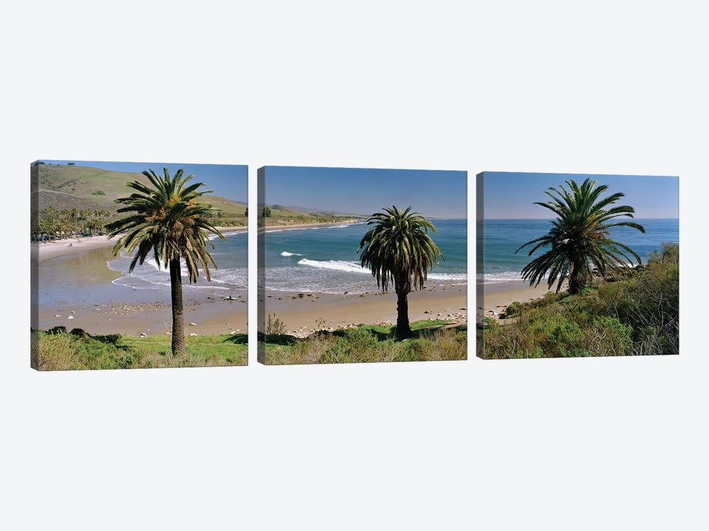 Coastal Landscape, Refugio State Beach, Santa Barbara, California, USA by Panoramic Images 3-piece Art Print