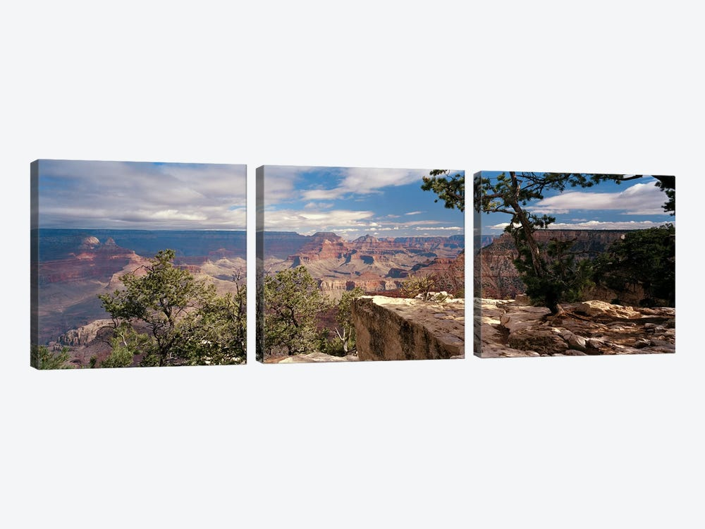 View From Mather Point, Grand Canyon National Park, Arizona, USA by Panoramic Images 3-piece Canvas Wall Art