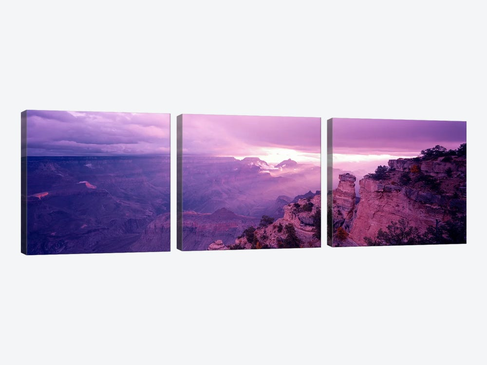 View From Yaki Point, Grand Canyon National Park, Arizona, USA by Panoramic Images 3-piece Canvas Artwork
