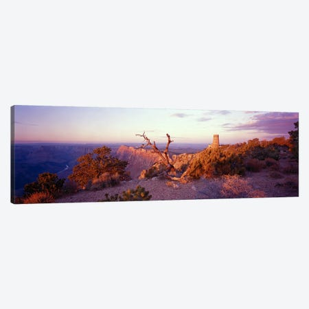 Majestic Sunset Over Desert View Watchtower, Grand Canyon National Park, Arizona, USA Canvas Print #PIM5847} by Panoramic Images Canvas Art Print