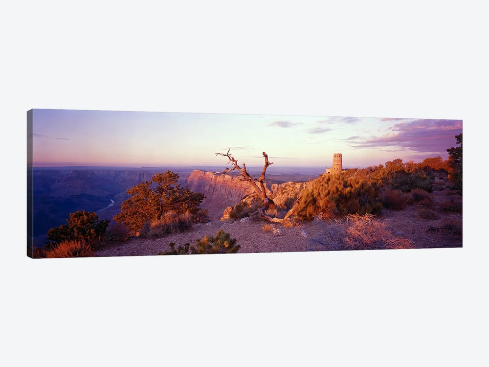 Majestic Sunset Over Desert View Watchtower, Grand Canyon National Park, Arizona, USA by Panoramic Images 1-piece Canvas Artwork