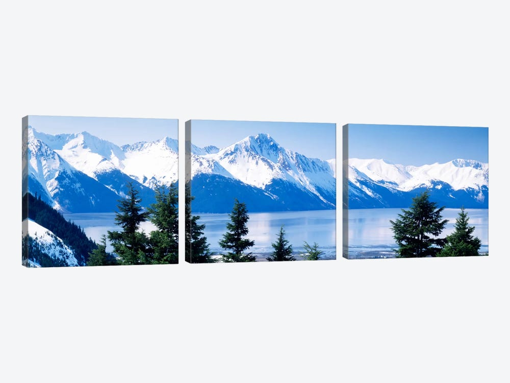 Turnagain Arm Girdwood AK USA by Panoramic Images 3-piece Canvas Art Print