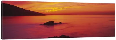 Panoramic view of the sea at dusk, Leo Carillo State Park, Carillo, Los Angeles County, California, USA Canvas Print #PIM5863