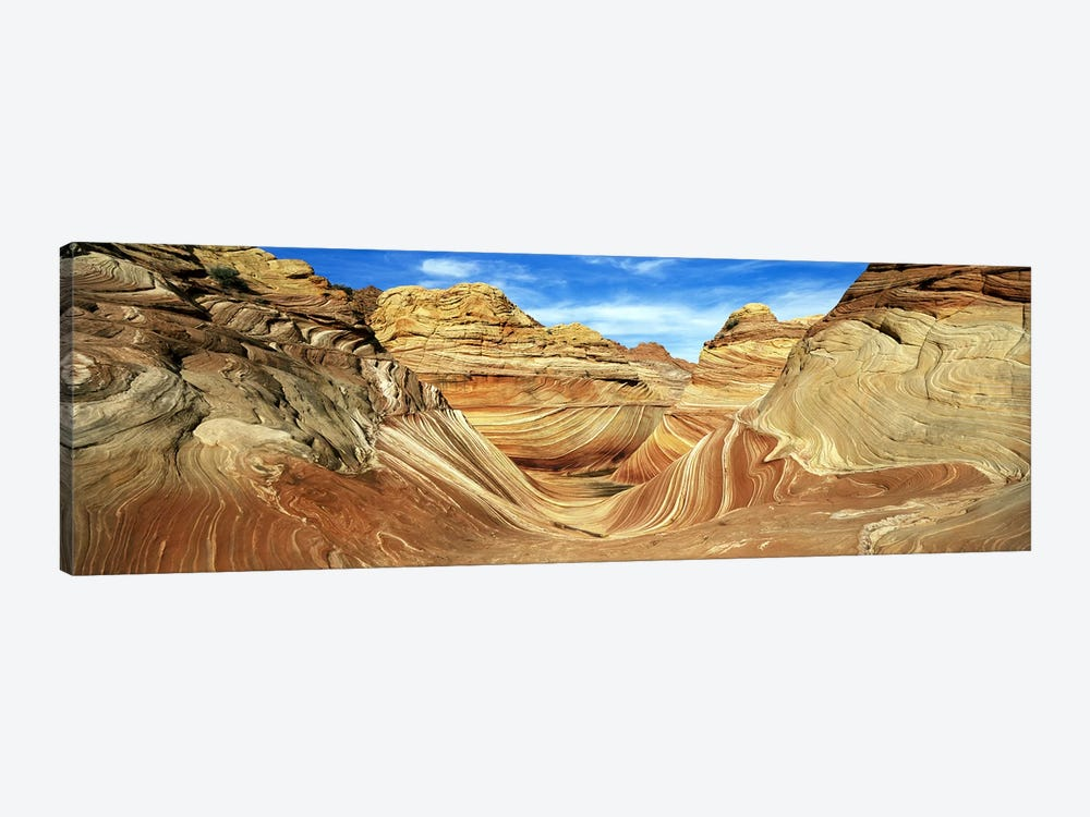 The Wave, Coyote Buttes, Paria Canyon-Vermillion Cliffs Wilderness, Coconino County, Arizona, USA by Panoramic Images 1-piece Canvas Wall Art