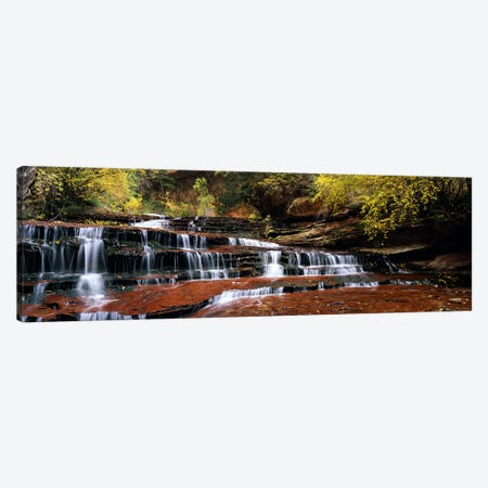 Waterfall in a forest, North Creek, Zion National Park, Utah, USA Canvas Print #PIM5866} by Panoramic Images Canvas Art Print