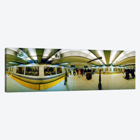 Large group of people at a subway stationBart Station, San Francisco, California, USA Canvas Print #PIM5869} by Panoramic Images Canvas Artwork