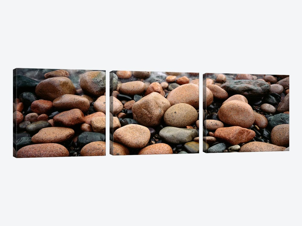 Rocks Acadia National Park ME USA by Panoramic Images 3-piece Canvas Art