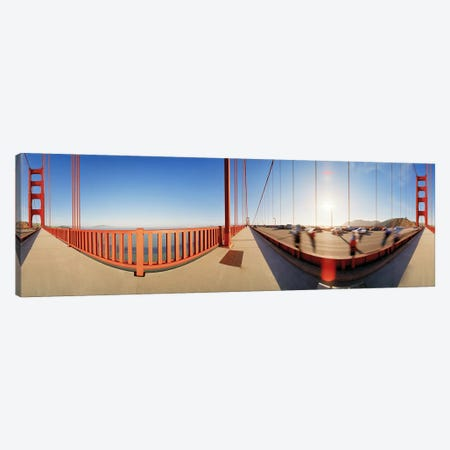 Group of people on a suspension bridge, Golden Gate Bridge, San Francisco, California, USA Canvas Print #PIM5870} by Panoramic Images Canvas Art Print