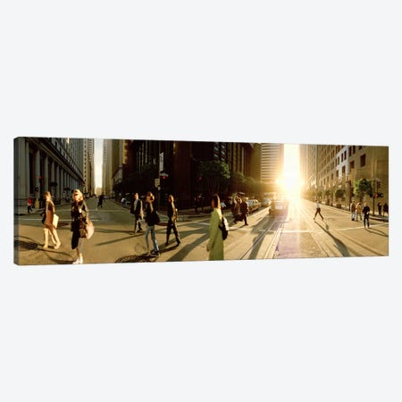 Group of people walking on the street, Montgomery Street, San Francisco, California, USA Canvas Print #PIM5871} by Panoramic Images Canvas Art Print