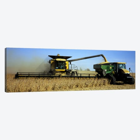 A Combine Harvesting A Soybean Crop, Minnesota, USA Canvas Print #PIM5872} by Panoramic Images Canvas Print