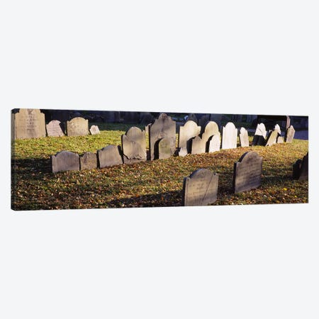 Tombstones in a cemetery, Copp's Hill Burying Ground, Freedom Trail, Boston, Massachusetts, USA Canvas Print #PIM5876} by Panoramic Images Canvas Art
