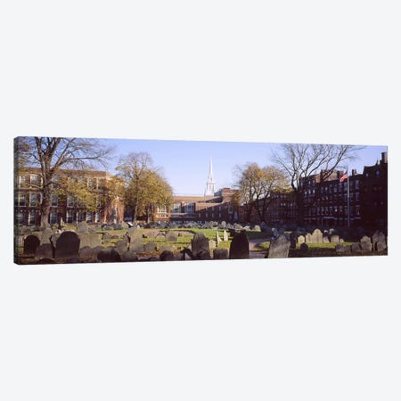 Tombstones in a cemetery, Copp's Hill Burying Ground, Freedom Trail, Boston, Massachusetts, USA #2 Canvas Print #PIM5877} by Panoramic Images Canvas Wall Art