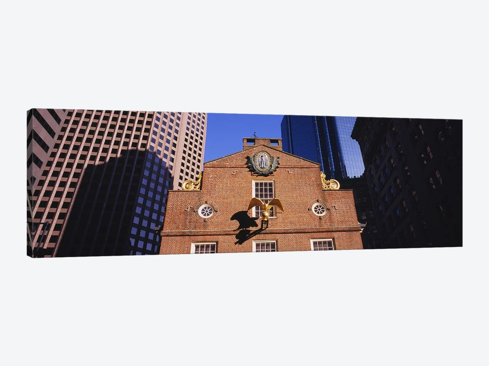 Low angle view of a golden eagle outside of a building, Old State House, Freedom Trail, Boston, Massachusetts, USA by Panoramic Images 1-piece Canvas Wall Art