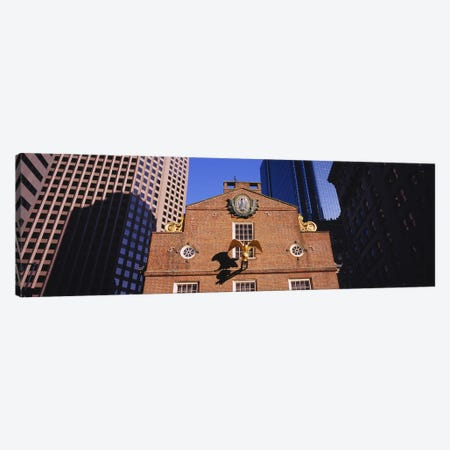 Low angle view of a golden eagle outside of a building, Old State House, Freedom Trail, Boston, Massachusetts, USA Canvas Print #PIM5878} by Panoramic Images Canvas Print