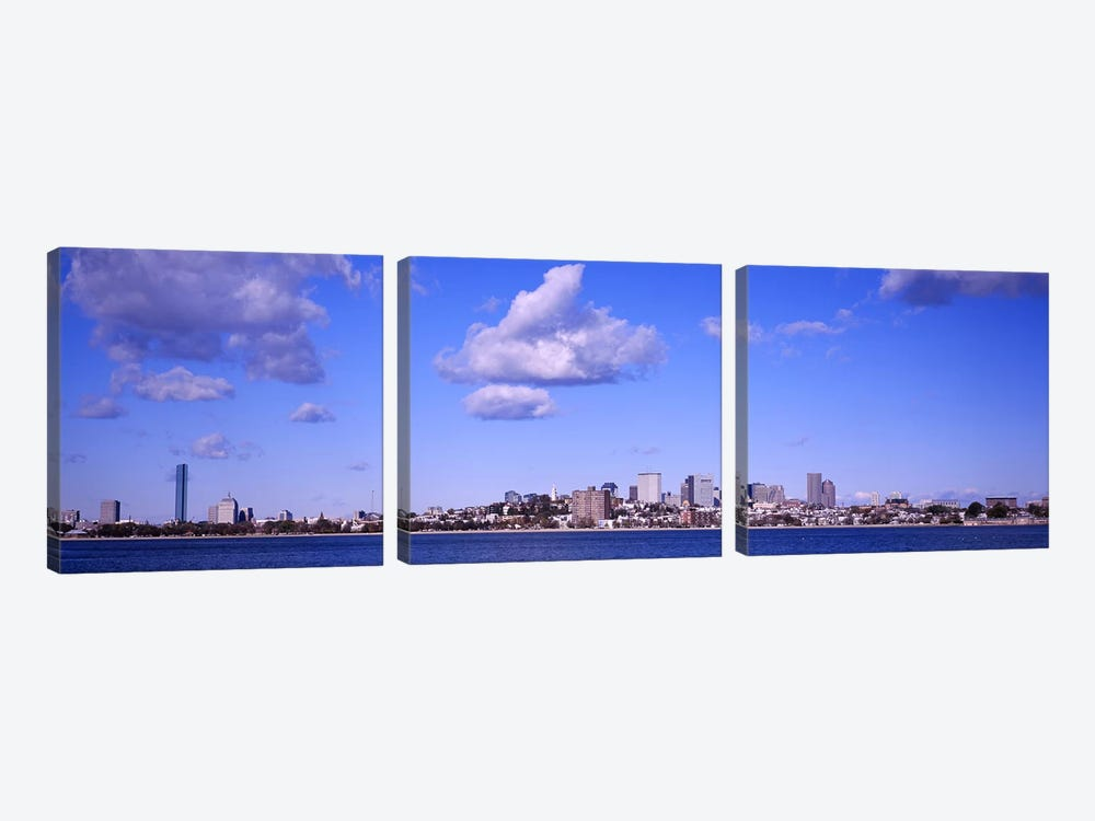 City at the waterfront, Boston, Massachusetts, USA 3-piece Canvas Print