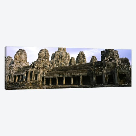 Facade of an old temple, Angkor Wat, Siem Reap, Cambodia Canvas Print #PIM5882} by Panoramic Images Canvas Wall Art