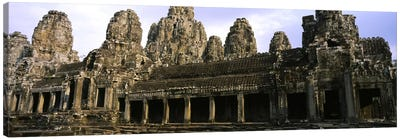 Facade of an old temple, Angkor Wat, Siem Reap, Cambodia Canvas Art Print