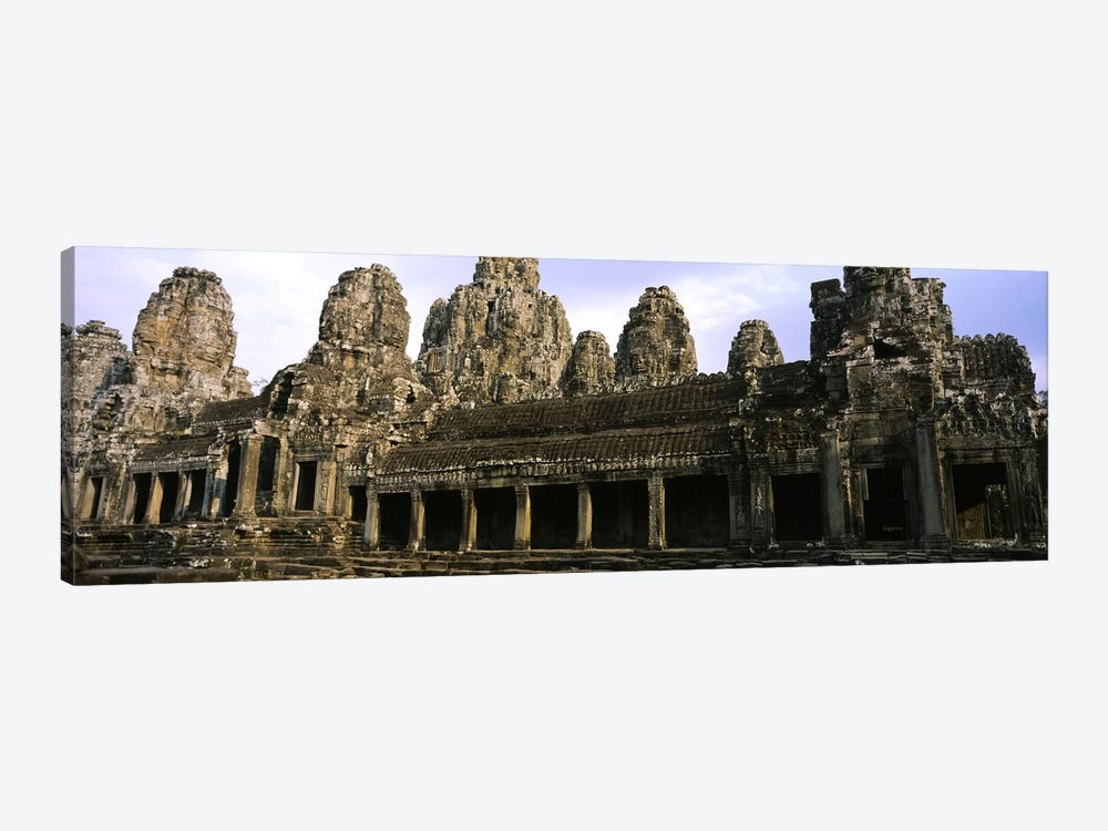 Facade of an old temple, Angkor Wat, Siem Reap, Cambodia by Panoramic Images 1-piece Canvas Art Print
