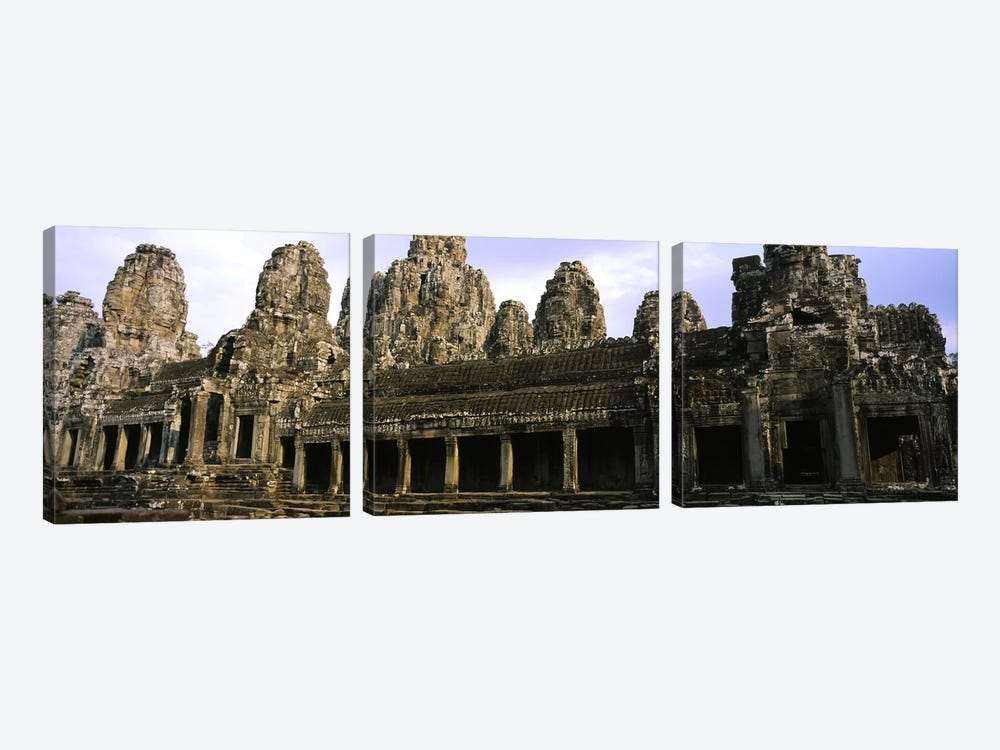 Facade of an old temple, Angkor Wat, Siem Reap, Cambodia by Panoramic Images 3-piece Art Print