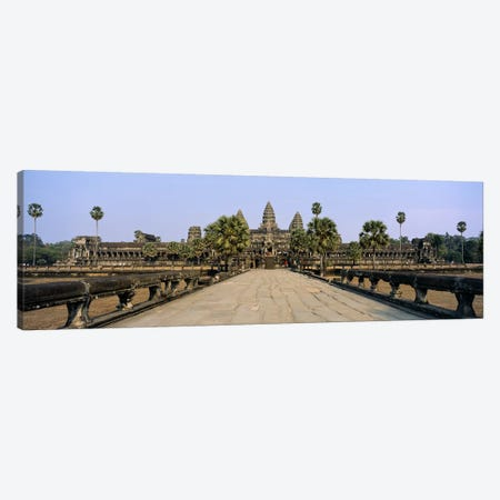 Path leading towards an old temple, Angkor Wat, Siem Reap, Cambodia Canvas Print #PIM5883} by Panoramic Images Canvas Art