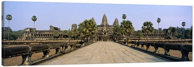 Path leading towards an old temple, Angkor Wat, Siem Reap, Cambodia Canvas Art Print
