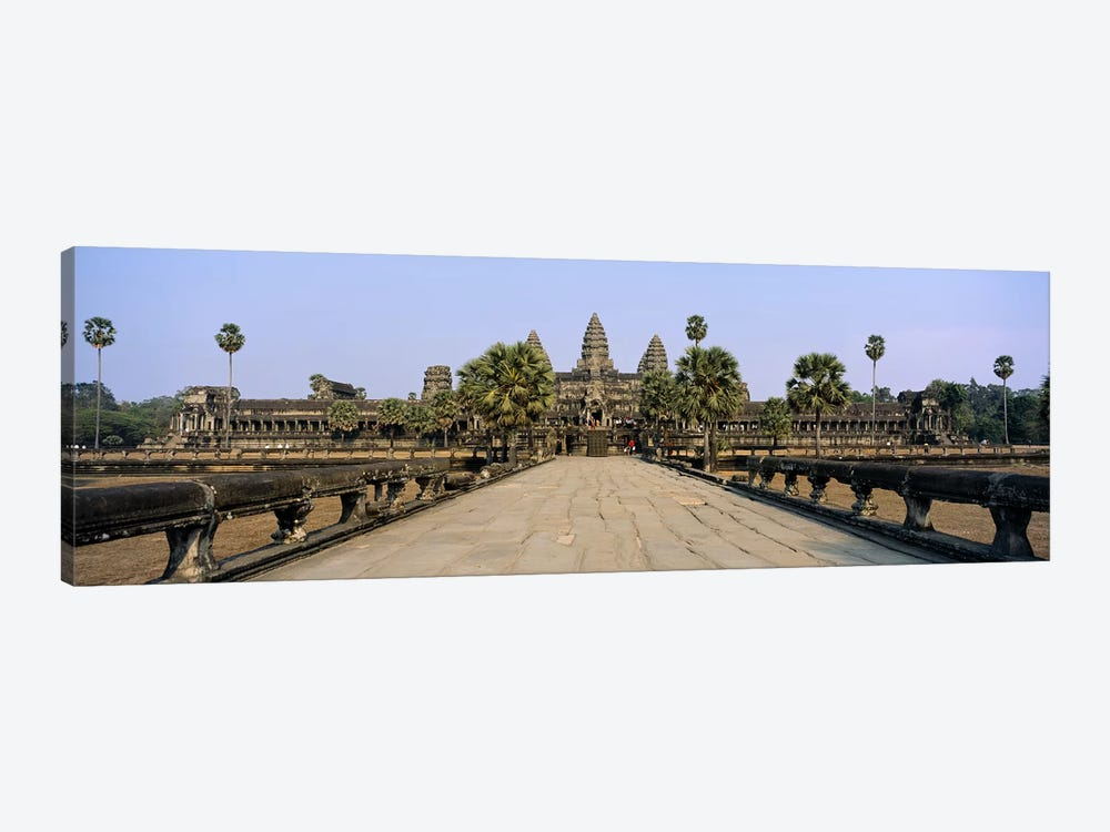Path leading towards an old temple, Angkor Wat, Siem Reap, Cambodia by Panoramic Images 1-piece Canvas Art