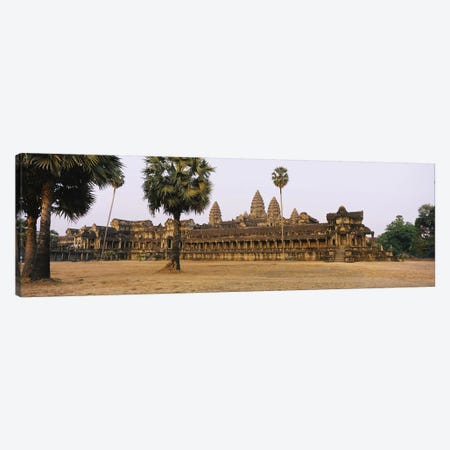 Facade of an old temple, Angkor Wat, Siem Reap, Cambodia #2 Canvas Print #PIM5886} by Panoramic Images Canvas Print