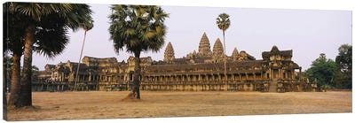 Facade of an old temple, Angkor Wat, Siem Reap, Cambodia #2 Canvas Print #PIM5886