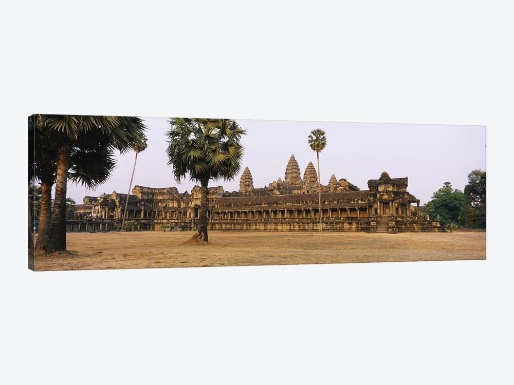 Facade of an old temple, Angkor Wat, Siem Reap, Cambodia #2 by Panoramic Images 1-piece Art Print