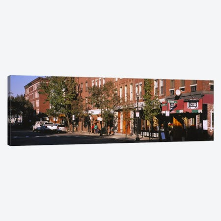 Stores along a street, North End, Boston, Massachusetts, USA Canvas Print #PIM5889} by Panoramic Images Canvas Artwork