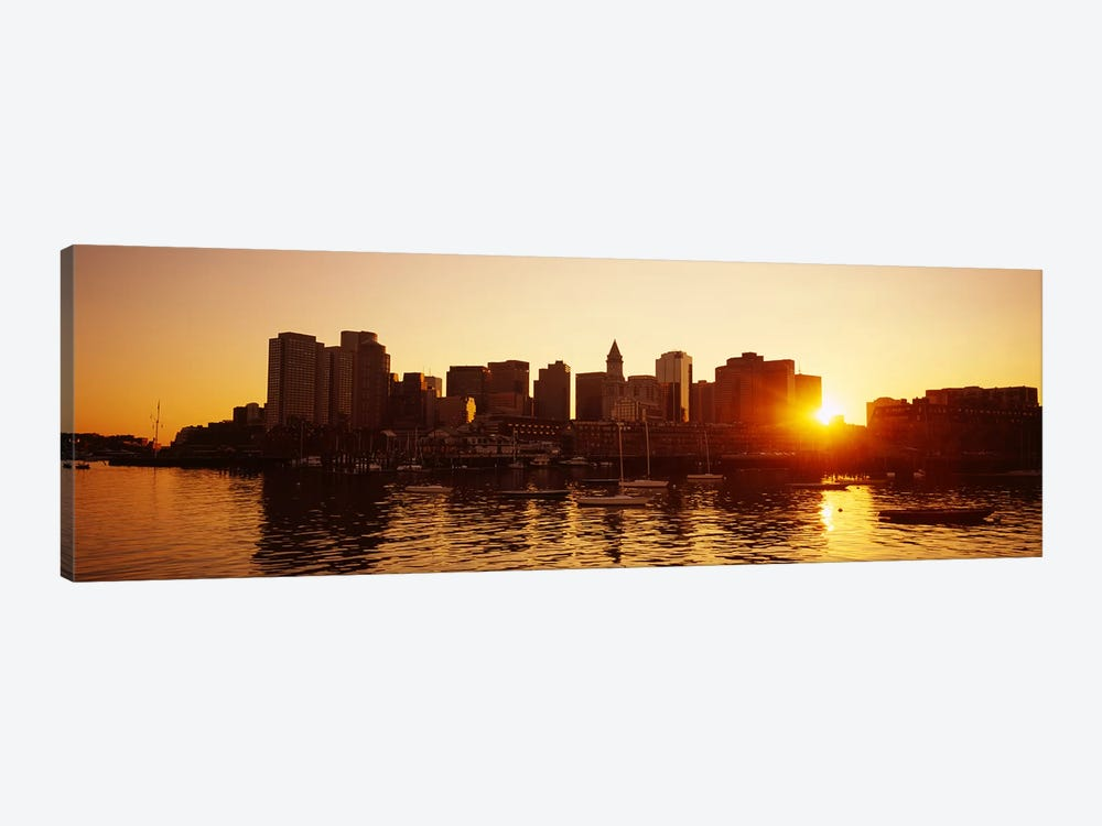 Sunset over skyscrapersBoston, Massachusetts, USA by Panoramic Images 1-piece Canvas Art