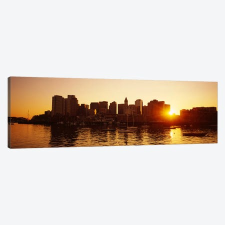 Sunset over skyscrapersBoston, Massachusetts, USA Canvas Print #PIM5890} by Panoramic Images Canvas Art Print