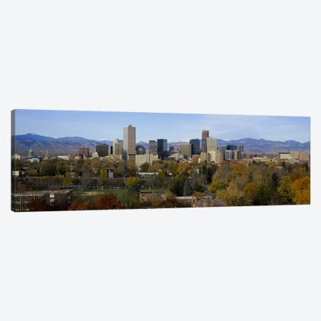 Skyscrapers in a city with mountains in the background, Denver, Colorado, USA Canvas Print #PIM5894} by Panoramic Images Canvas Art