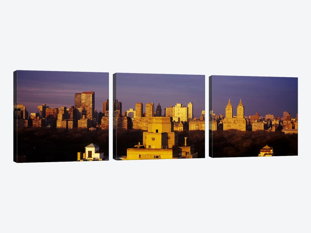 High angle view of a cityscape, Central Park, Manhattan, New York City, New York State, USA #2 by Panoramic Images 3-piece Art Print