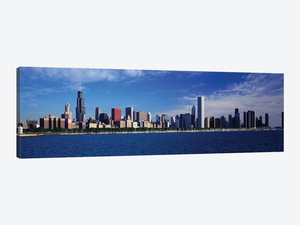 Skyline From Lake Michigan, Chicago, Illinois, USA by Panoramic Images 1-piece Canvas Art Print