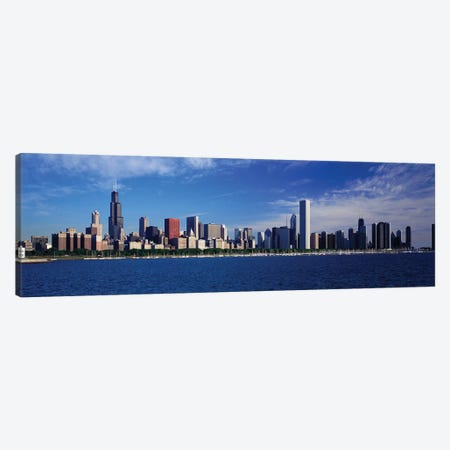 Skyline From Lake Michigan, Chicago, Illinois, USA Canvas Print #PIM58} by Panoramic Images Art Print