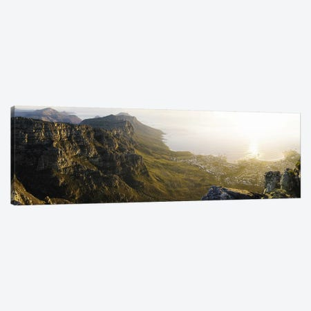 View Of Camps Bay And Bakoven From Table Mountain, Cape Town, Western Cape, South Africa Canvas Print #PIM5903} by Panoramic Images Art Print