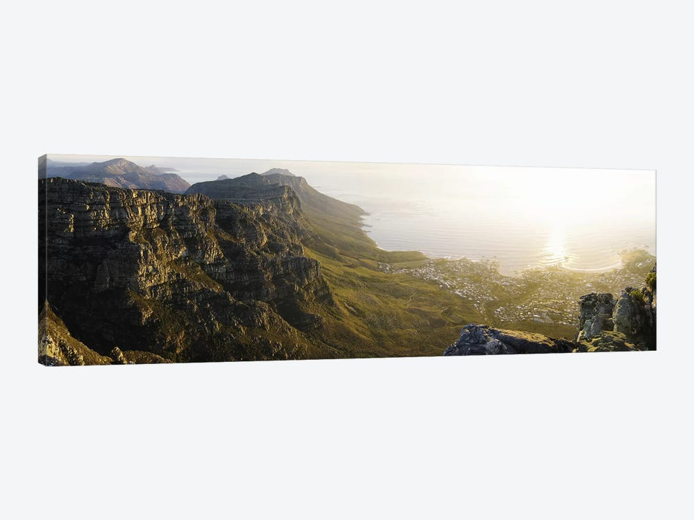 View Of Camps Bay And Bakoven From Table Mountain, Cape Town, Western Cape, South Africa by Panoramic Images 1-piece Art Print