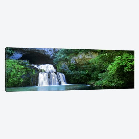 Cascading Waters At The Source Of The River Lison, Jura, Bourgogne-Franche-Comte, France Canvas Print #PIM5912} by Panoramic Images Canvas Art