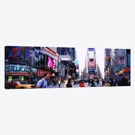 Group of People walking on the road, Times Square, Manhattan, New York City, New York State, USA Canvas Print #PIM5919} by Panoramic Images Canvas Wall Art