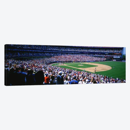 Spectators in a baseball stadium, Shea Stadium, Flushing, Queens, New York City, New York State, USA Canvas Print #PIM5920} by Panoramic Images Canvas Print
