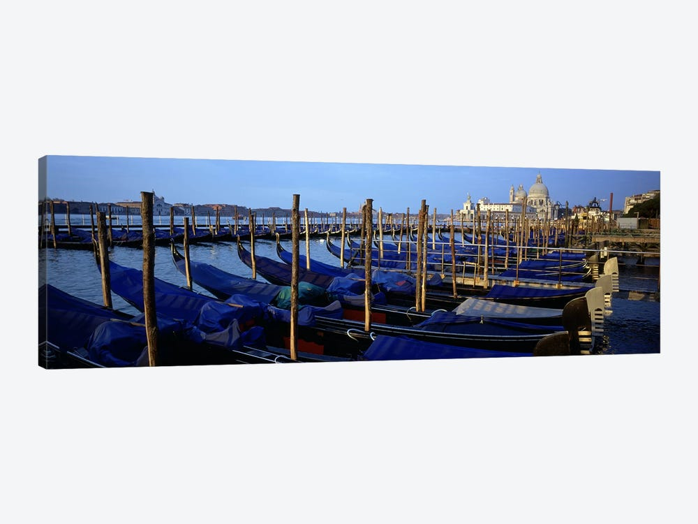 Gondolas moored at a harbor, Santa Maria Della Salute, Venice, Italy by Panoramic Images 1-piece Canvas Art Print