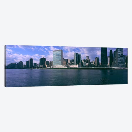 Skyscrapers at the waterfront, East River, Manhattan, New York City, New York State, USA Canvas Print #PIM5926} by Panoramic Images Canvas Artwork