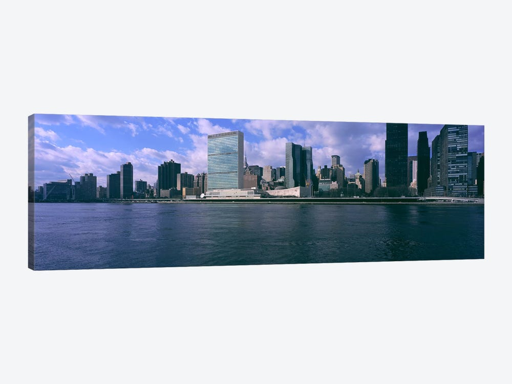 Skyscrapers at the waterfront, East River, Manhattan, New York City, New York State, USA by Panoramic Images 1-piece Canvas Artwork