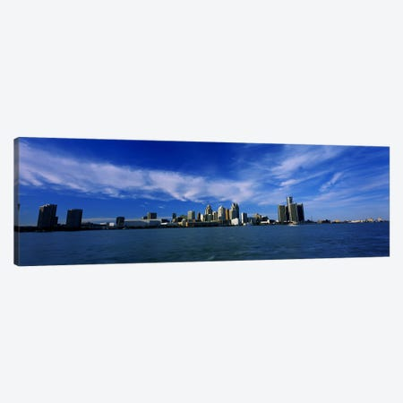 Buildings at the waterfront, Detroit, Michigan, USA #4 Canvas Print #PIM5937} by Panoramic Images Art Print