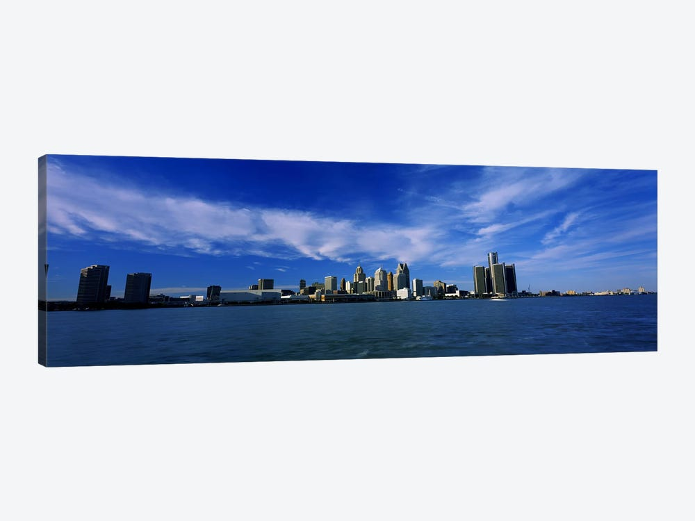Buildings at the waterfront, Detroit, Michigan, USA #4 by Panoramic Images 1-piece Canvas Artwork