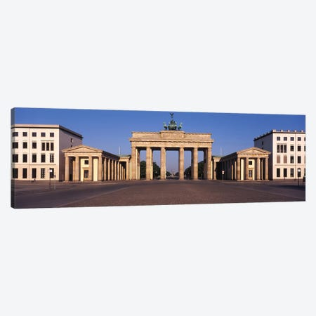 Facade of a building, Brandenburg Gate, Berlin, Germany Canvas Print #PIM5951} by Panoramic Images Canvas Art