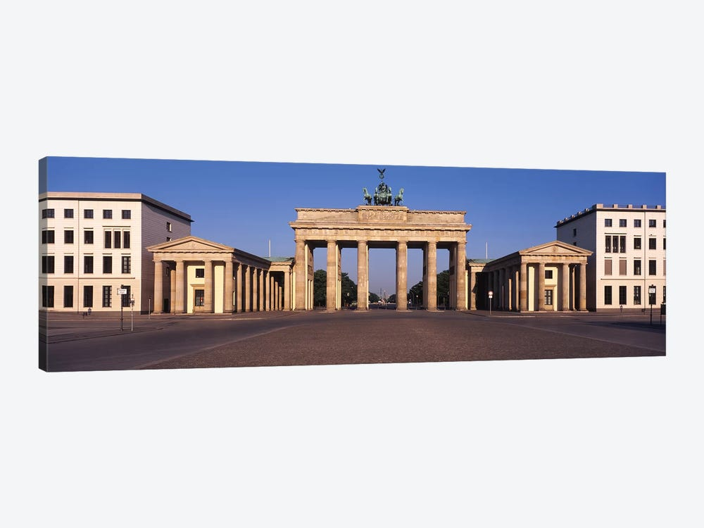 Facade of a building, Brandenburg Gate, Berlin, Germany by Panoramic Images 1-piece Canvas Wall Art
