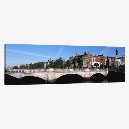 Cityscape With O'Connell Bridge In The Foreground, Dublin, Leinster Province, Republic of Ireland Canvas Print #PIM5952} by Panoramic Images Canvas Artwork