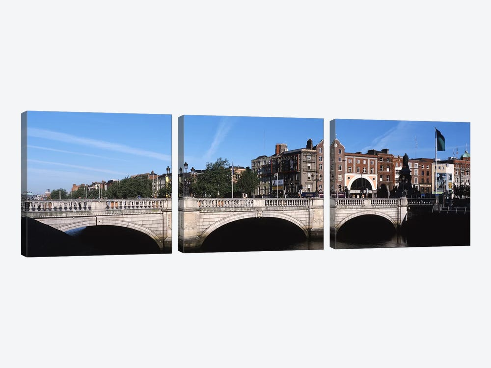 Cityscape With O'Connell Bridge In The Foreground, Dublin, Leinster Province, Republic of Ireland by Panoramic Images 3-piece Art Print